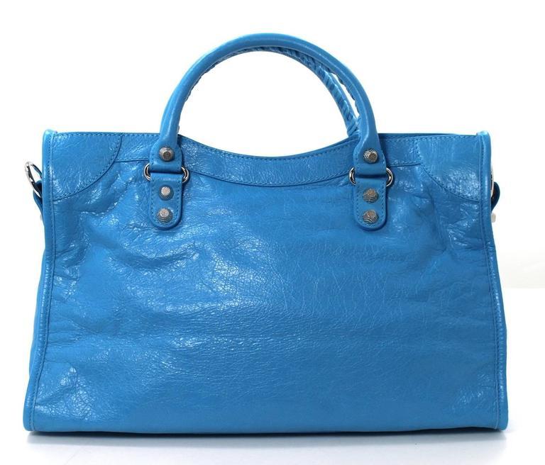 Balenciaga Blue Leather Giant City 12 Bag- Nickel HW 2