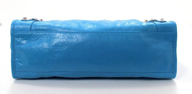Balenciaga Blue Leather Giant City 12 Bag- Nickel HW 3