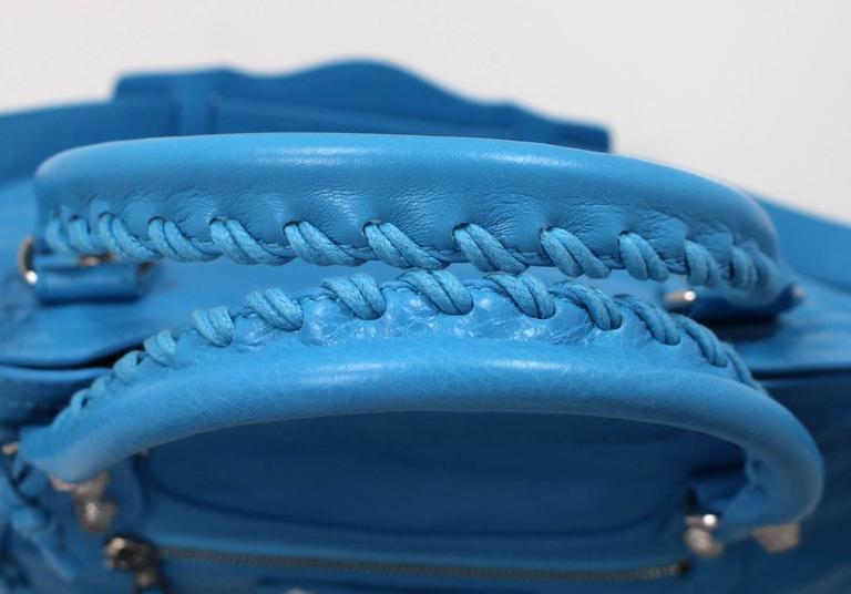 Balenciaga Blue Leather Giant City 12 Bag- Nickel HW 5