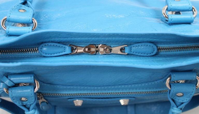 Balenciaga Blue Leather Giant City 12 Bag- Nickel HW 6