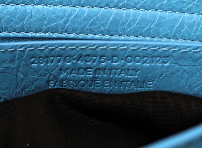 Balenciaga Blue Leather Giant City 12 Bag- Nickel HW 8