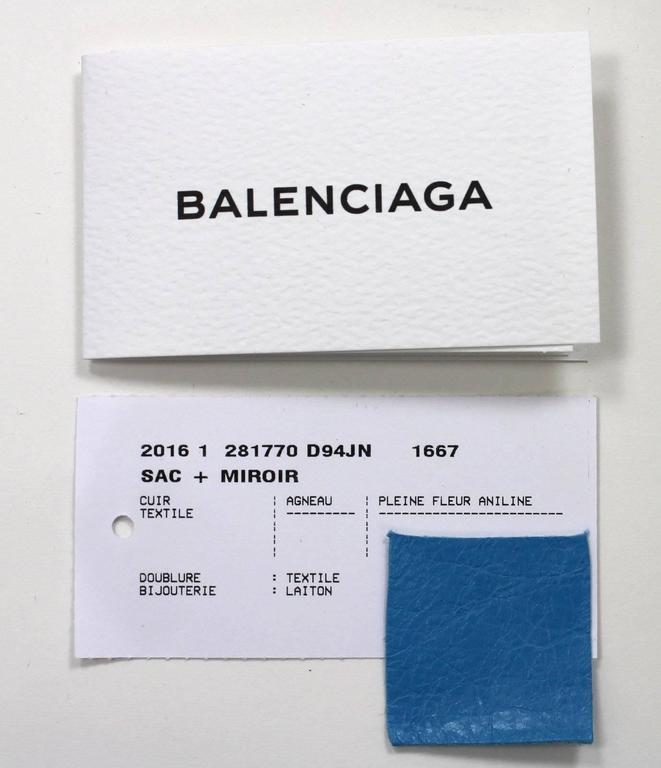Balenciaga Blue Leather Giant City 12 Bag- Nickel HW 9