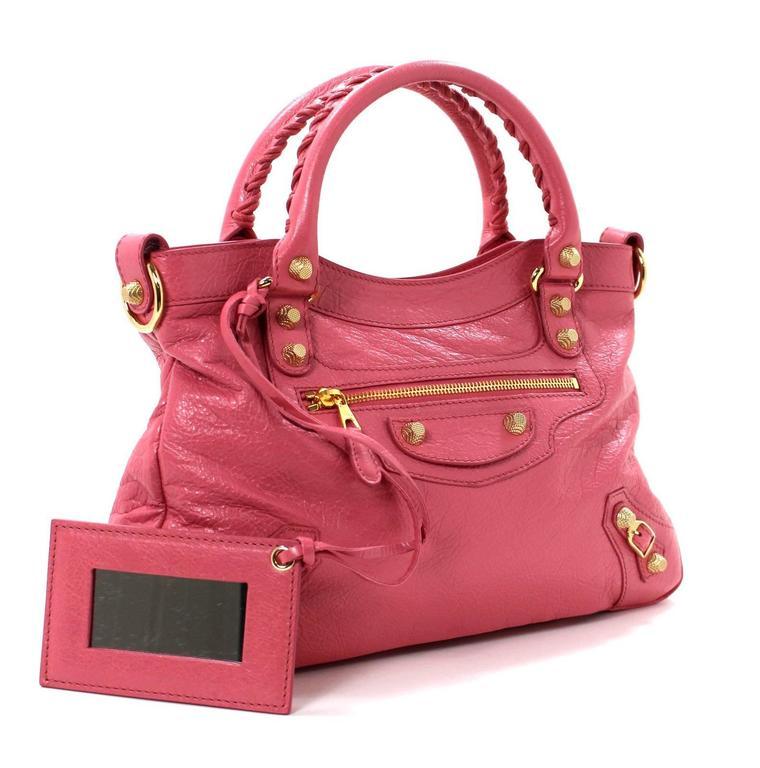 Balenciaga Pink Lambskin Arena Giant 12 Town Bag 2