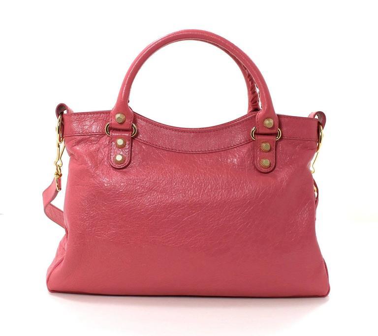 Balenciaga Pink Lambskin Arena Giant 12 Town Bag 3