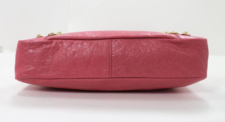 Balenciaga Pink Lambskin Arena Giant 12 Town Bag 4