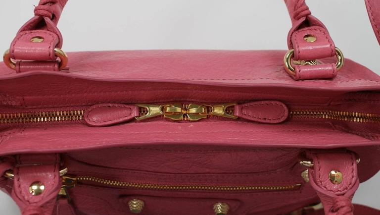 Balenciaga Pink Lambskin Arena Giant 12 Town Bag 6