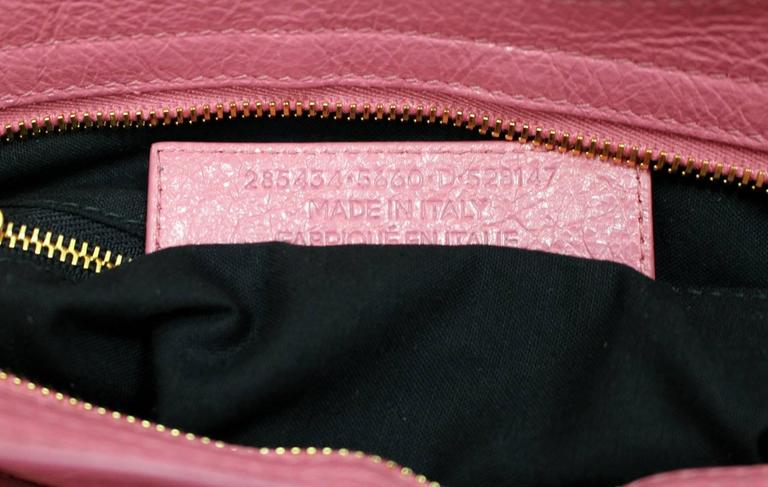 Balenciaga Pink Lambskin Arena Giant 12 Town Bag 9