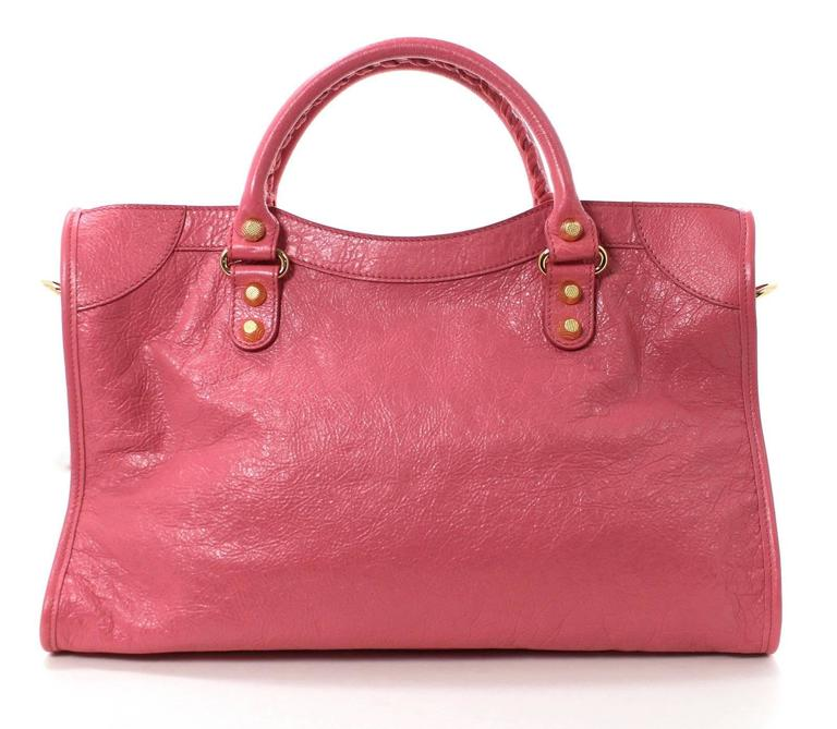 Balenciaga Lambskin Giant 12 Arena City Bag in Rose Hortensia Pink, GHW 2