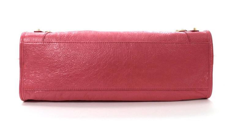 Balenciaga Lambskin Giant 12 Arena City Bag in Rose Hortensia Pink, GHW 3