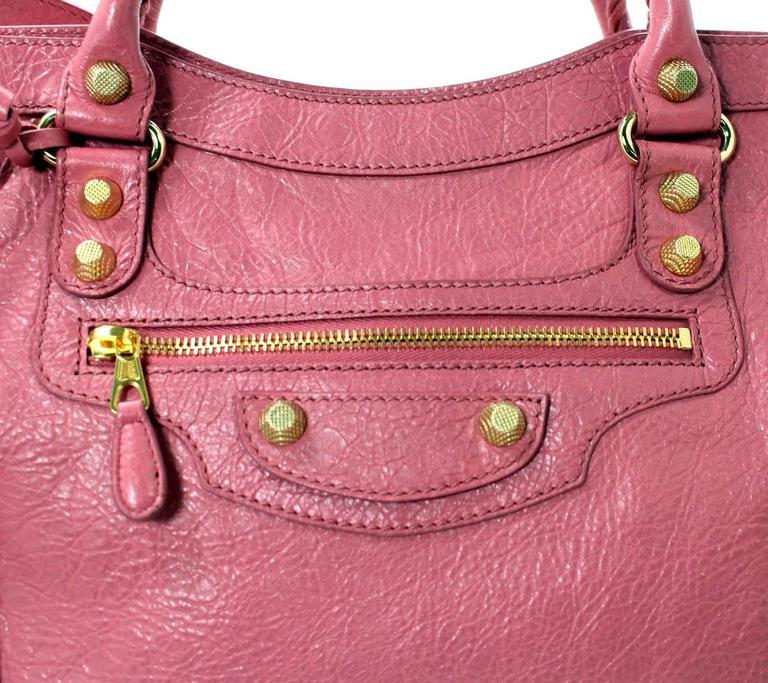 Balenciaga Lambskin Giant 12 Arena City Bag in Rose Hortensia Pink, GHW 4