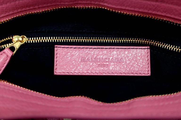 Balenciaga Lambskin Giant 12 Arena City Bag in Rose Hortensia Pink, GHW 7