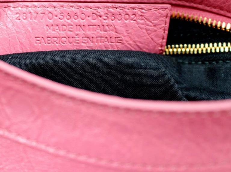 Balenciaga Lambskin Giant 12 Arena City Bag in Rose Hortensia Pink, GHW 8