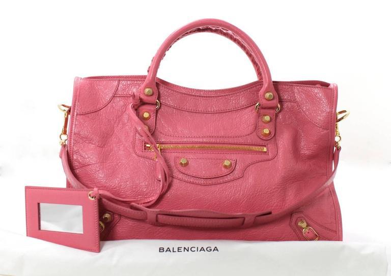 Balenciaga Lambskin Giant 12 Arena City Bag in Rose Hortensia Pink, GHW 10