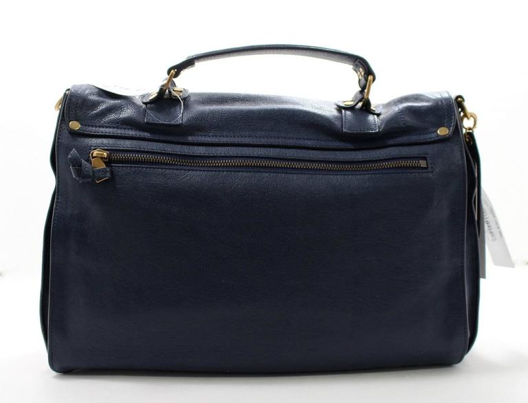 Proenza Schouler PS1 Large Lux Messenger Bag- Midnight Blue Leather 3
