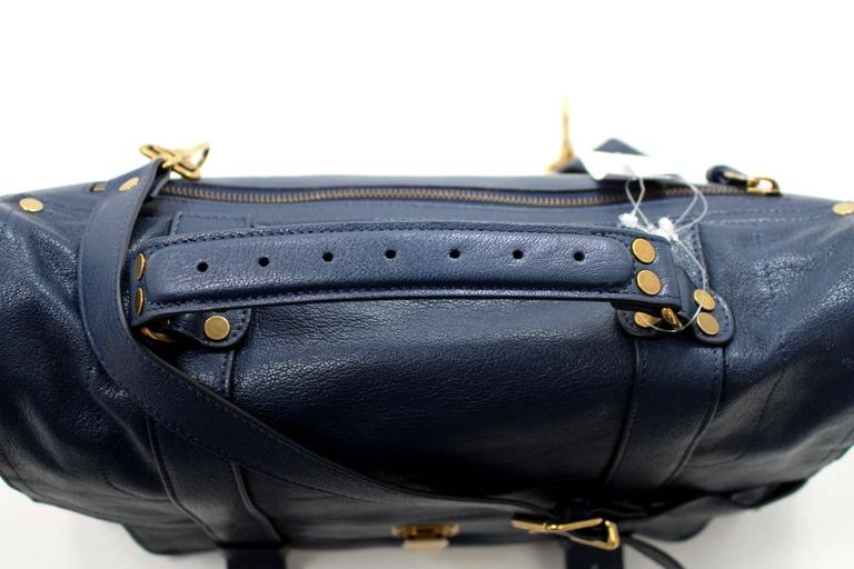 Proenza Schouler PS1 Large Lux Messenger Bag- Midnight Blue Leather 5