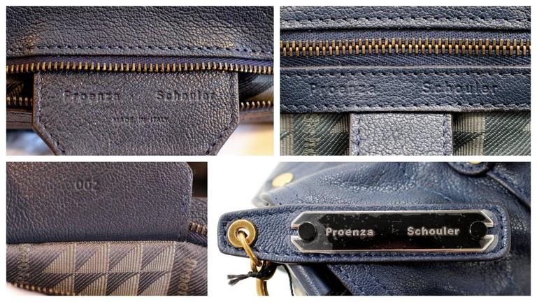 Proenza Schouler PS1 Large Lux Messenger Bag- Midnight Blue Leather 8