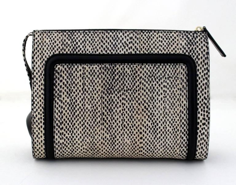Jason Wu Daphne Water Snake Clutch with Black Leather 2
