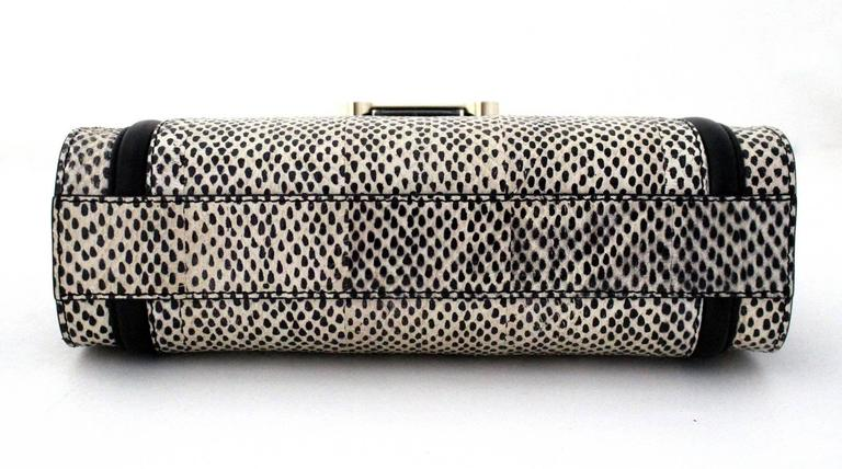 Jason Wu Daphne Water Snake Clutch with Black Leather 4