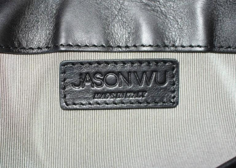 Jason Wu Daphne Water Snake Clutch with Black Leather 7
