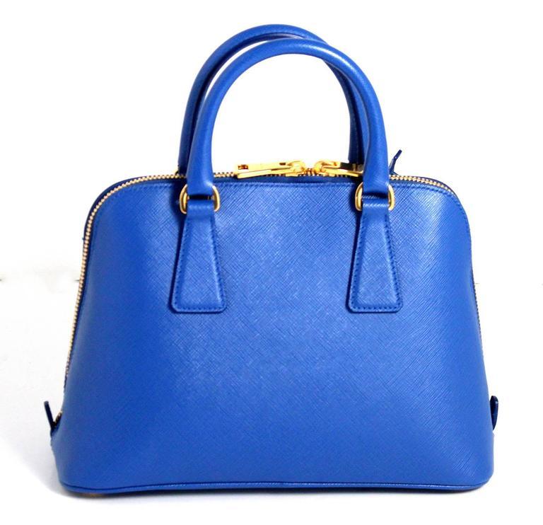Prada Cobalt Azzuro Saffiano Promenade Bag- Mini 2