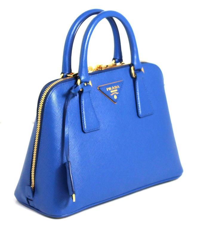 Prada Cobalt Azzuro Saffiano Promenade Bag- Mini 3