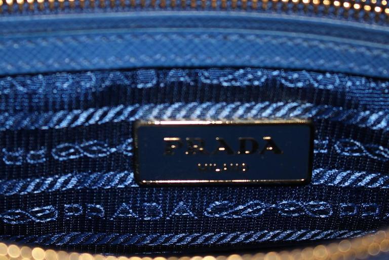 Prada Cobalt Azzuro Saffiano Promenade Bag- Mini 6