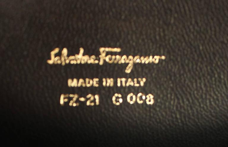 Salvatore Ferragamo Black Leather Leaf Motif Flap Bag- Fall 2016 7