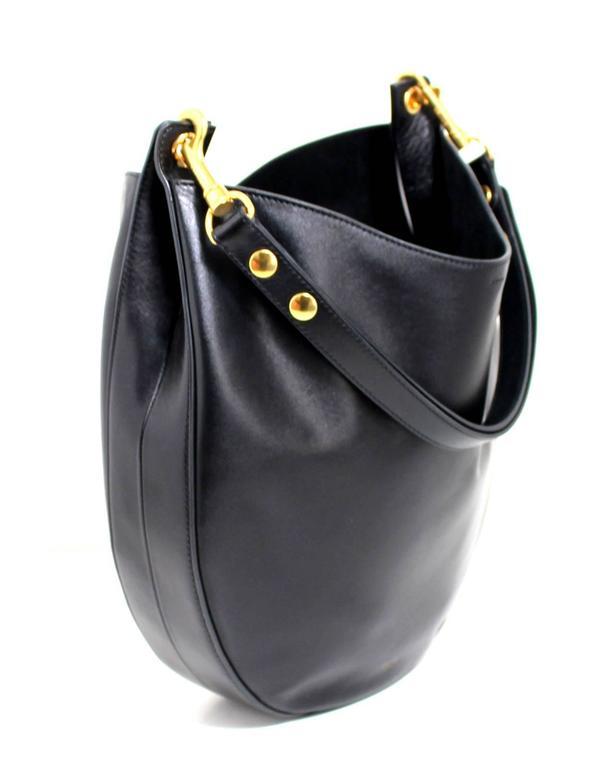 Celine Black Smooth Leather Medium Hobo 2