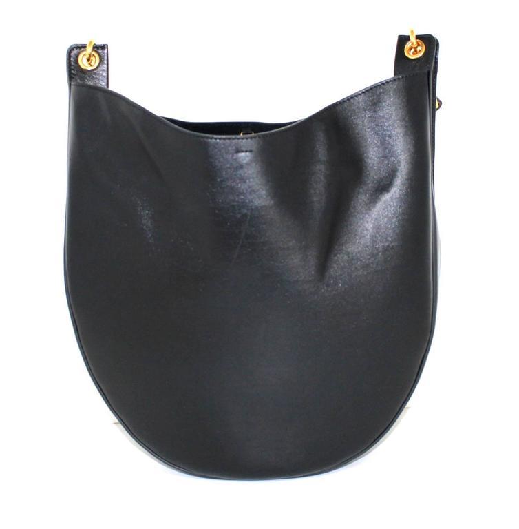 Celine Black Smooth Leather Medium Hobo 3