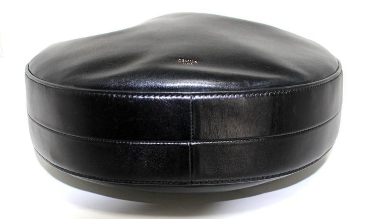 Celine Black Smooth Leather Medium Hobo 4