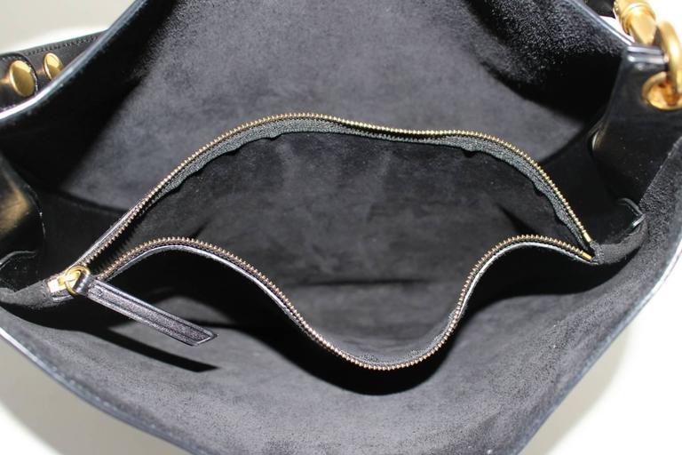 Celine Black Smooth Leather Medium Hobo 6