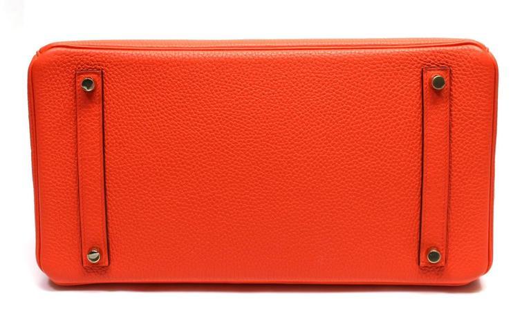 Hermès 35 cm Orange Poppy Birkin Bag- Togo Leather with GHW 5