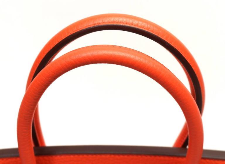Hermès 35 cm Orange Poppy Birkin Bag- Togo Leather with GHW 7