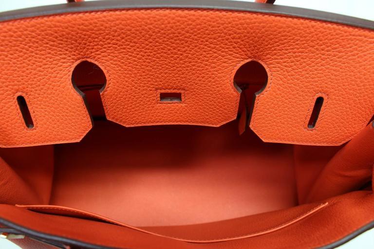 Hermès 35 cm Orange Poppy Birkin Bag- Togo Leather with GHW 8