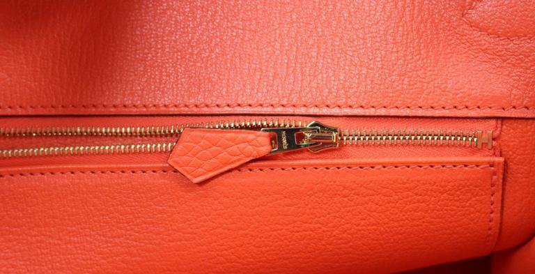 Hermès 35 cm Orange Poppy Birkin Bag- Togo Leather with GHW 9