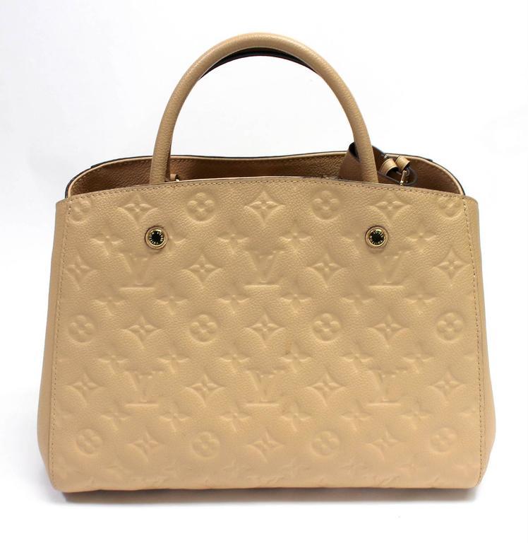 Louis Vuitton Dune Monogram Empreinte Leather Montaigne MM Bag 2