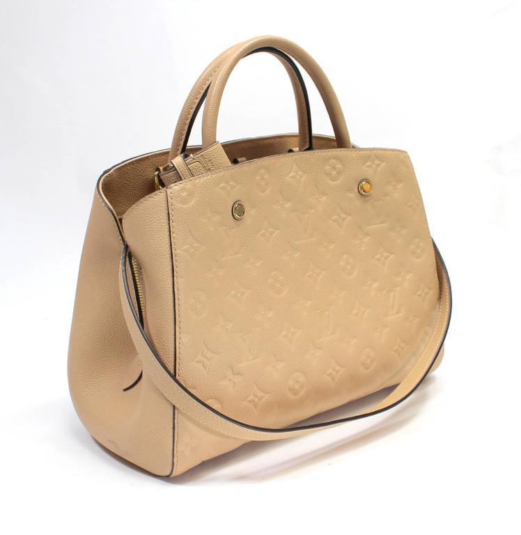 Louis Vuitton Dune Monogram Empreinte Leather Montaigne MM Bag 3