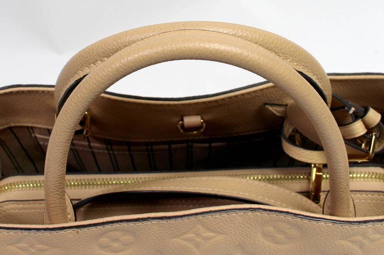 Louis Vuitton Dune Monogram Empreinte Leather Montaigne MM Bag 6