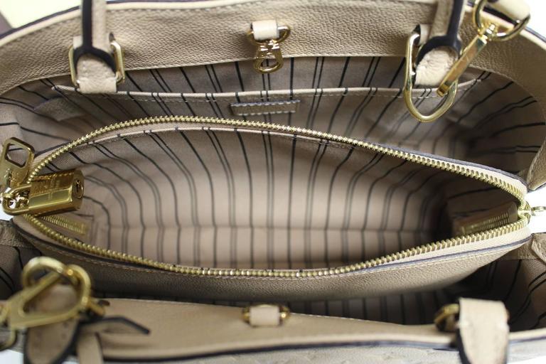 Louis Vuitton Dune Monogram Empreinte Leather Montaigne MM Bag 8
