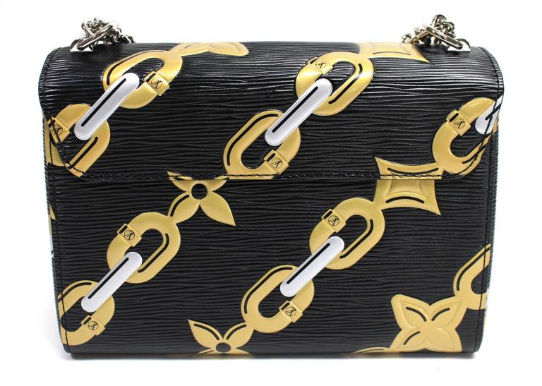 Louis Vuitton Chain Flower Epi Twist MM in Black Noir 2