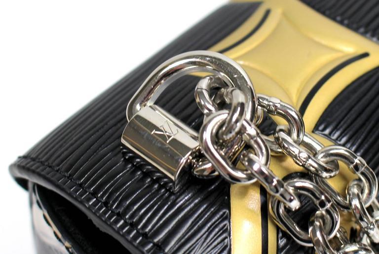 Louis Vuitton Chain Flower Epi Twist MM in Black Noir 5