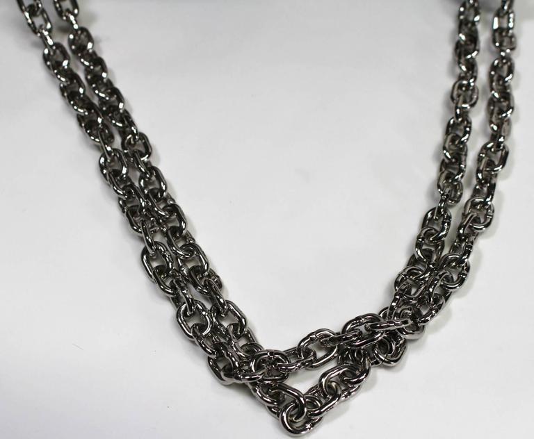 Louis Vuitton Chain Flower Epi Twist MM in Black Noir 6