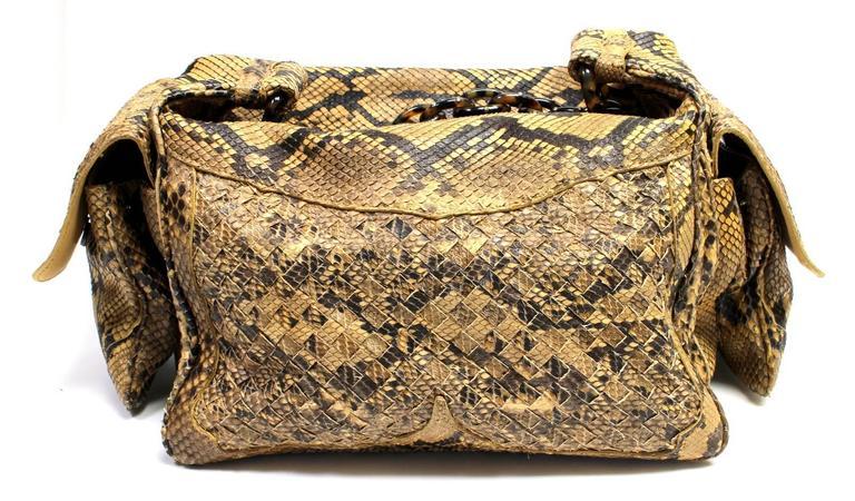 Bottega Veneta Brown Python Crocker Bag 2