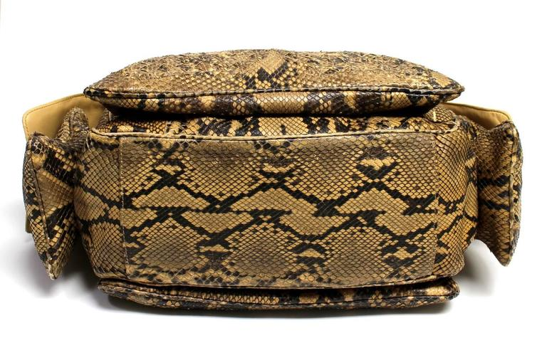 Bottega Veneta Brown Python Crocker Bag 4