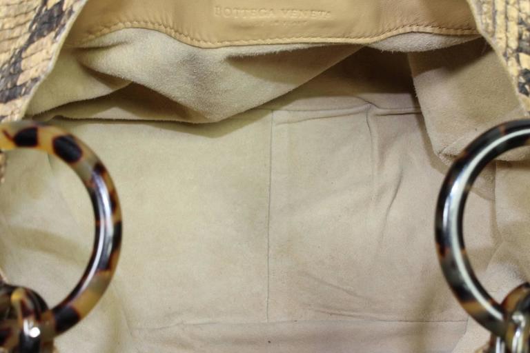Bottega Veneta Brown Python Crocker Bag 7