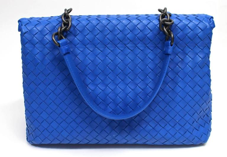 Bottega Veneta Royal Blue Medium Olimpia Bag 2