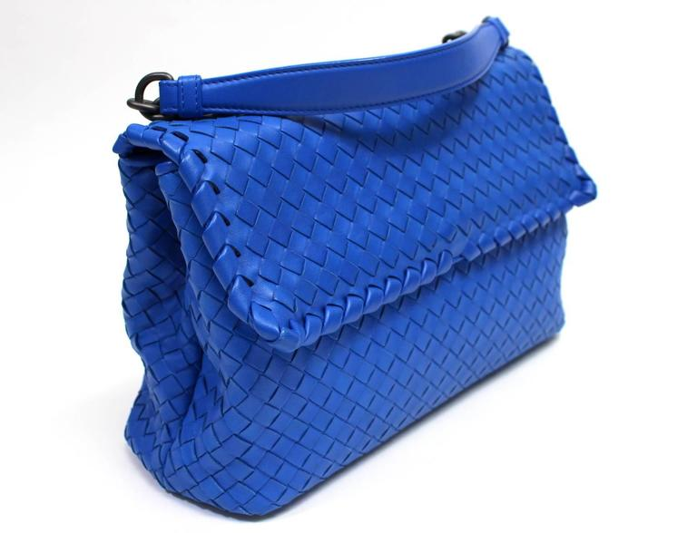 Bottega Veneta Royal Blue Medium Olimpia Bag 3
