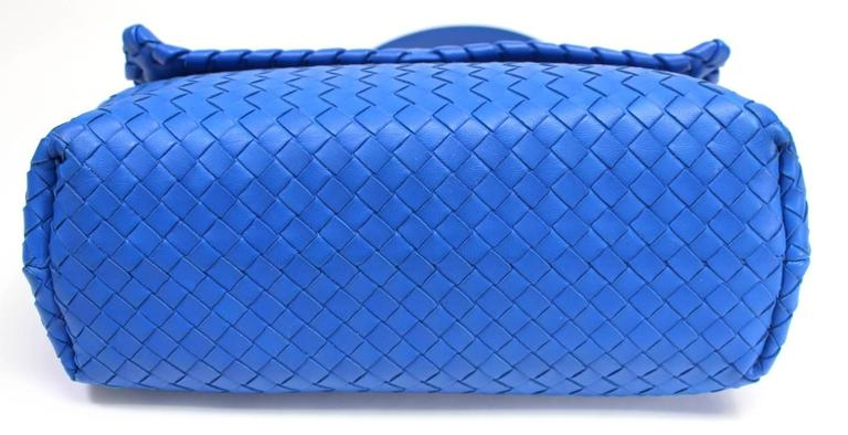 Bottega Veneta Royal Blue Medium Olimpia Bag 4