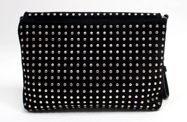Alexander McQueen Black Suede Clutch Cross Body Bag 2