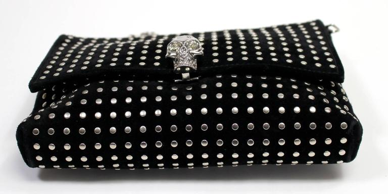 Alexander McQueen Black Suede Clutch Cross Body Bag 4